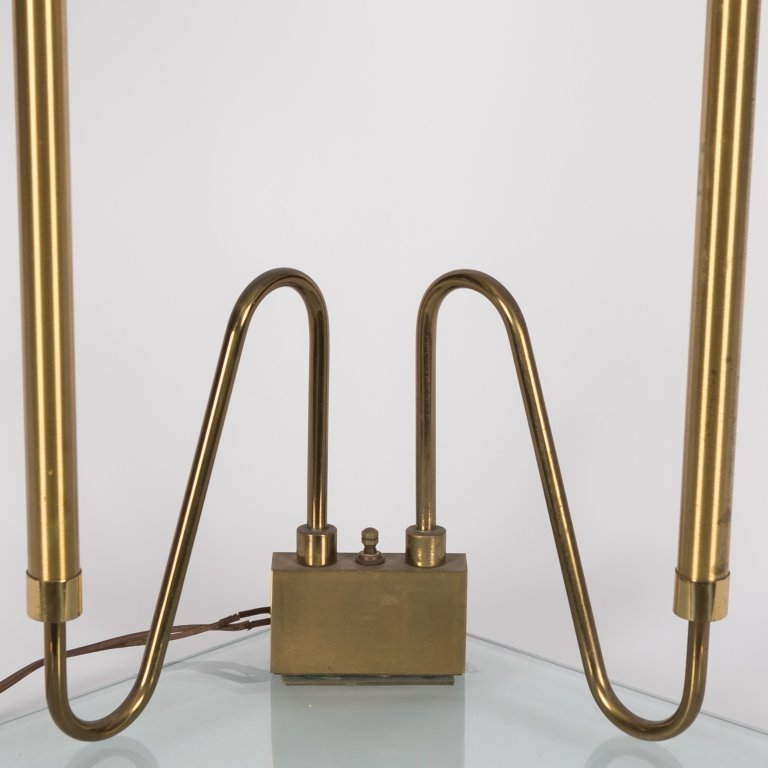 Fontana Arte Brass Double Stemmed Table Lamp - 2