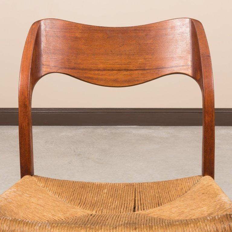 Moller Teak and Rush Seat Desk Chair - 2