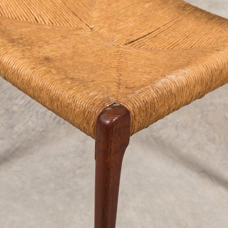 Moller Teak and Rush Seat Desk Chair - 3