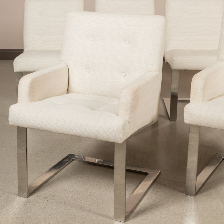Set of Six Paul Evans Cantilever Dining Chairs - 2