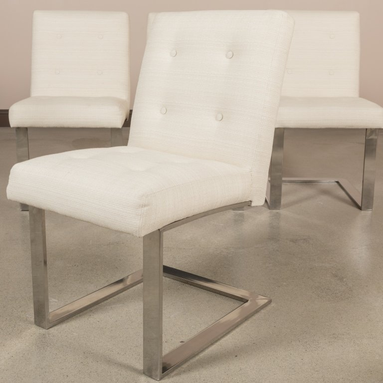 Set of Six Paul Evans Cantilever Dining Chairs - 4