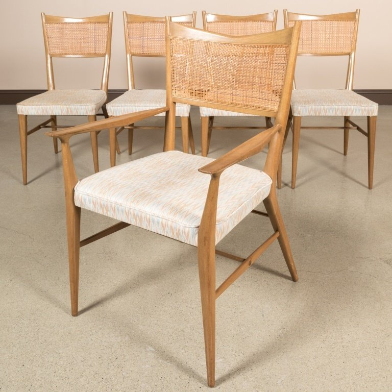 Set of Six Reed Back Dining Chairs by Paul McCobb - 2