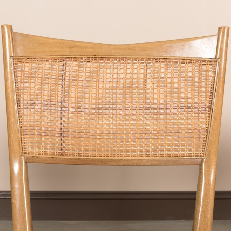 Set of Six Reed Back Dining Chairs by Paul McCobb - 3