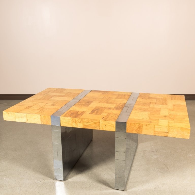 Paul Evans for Directional Chrome and Ash Table