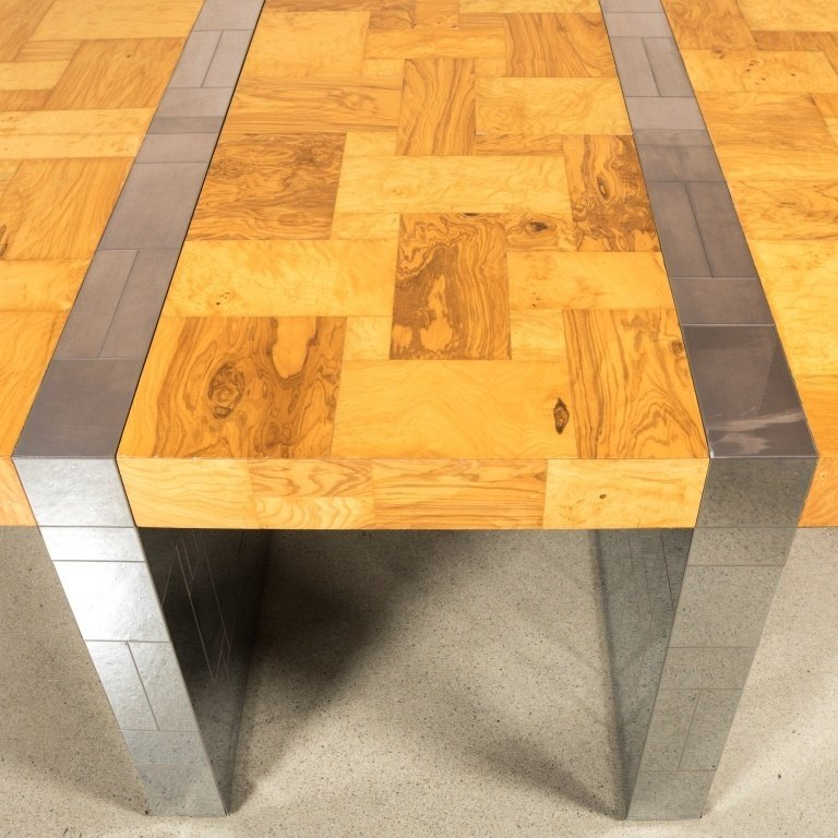 Paul Evans for Directional Chrome and Ash Table - 2