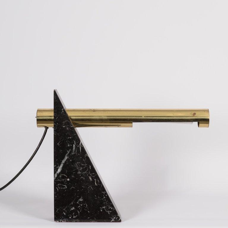 Sonneman Marble and Brass Desk Lamp