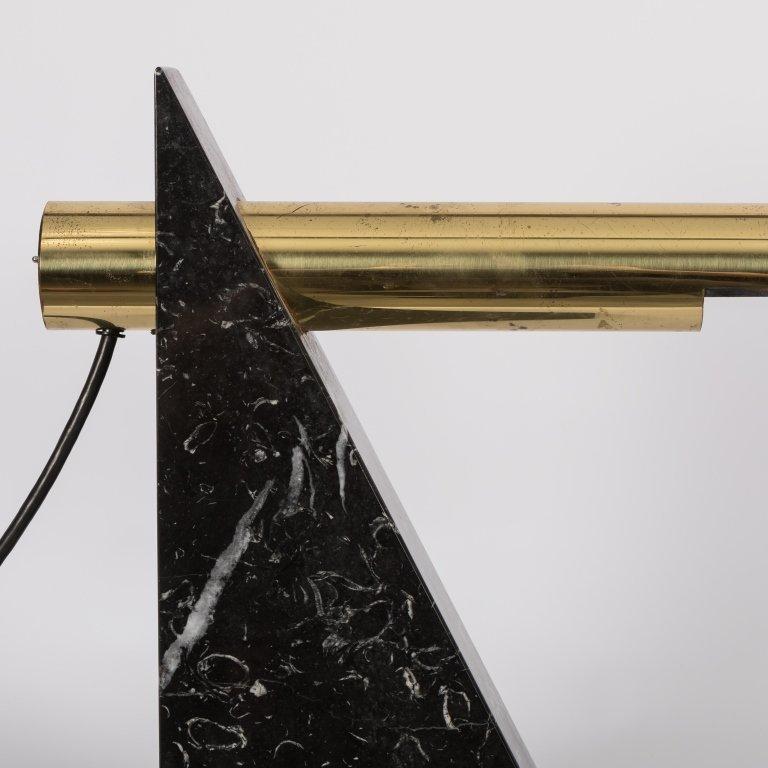 Sonneman Marble and Brass Desk Lamp - 2