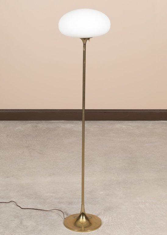 Laurel Brass Mushroom Shade Floor Lamp