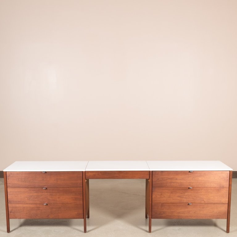 Three Piece Florence Knoll Dresser Set - Signed