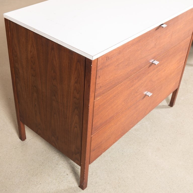 Three Piece Florence Knoll Dresser Set - Signed - 5
