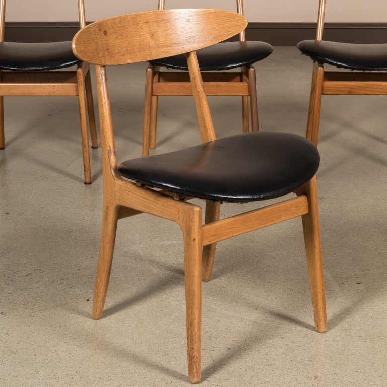 Four Danish Teak Kitchen Chairs - 2