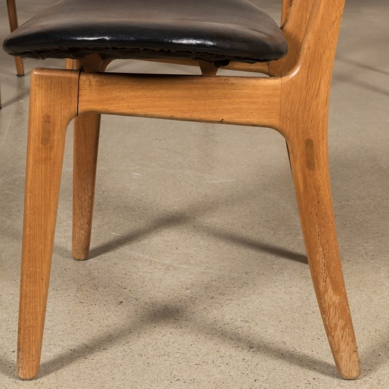Four Danish Teak Kitchen Chairs - 3