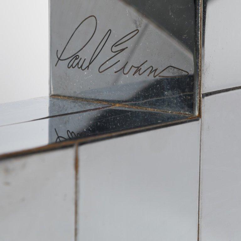 Pair Signed Paul Evans Cityscape Shelf Brackets - 2