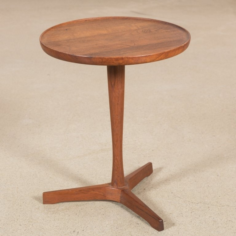 Dansk Danish Teak Diminutive Pedestal Table