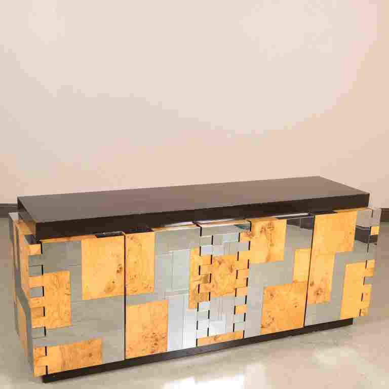 Paul Evans for Directional Chrome and Ash Credenza