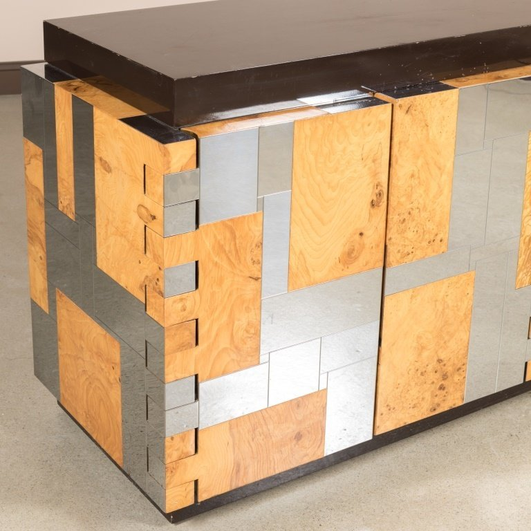 Paul Evans for Directional Chrome and Ash Credenza - 2
