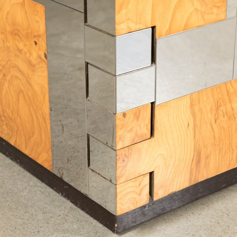 Paul Evans for Directional Chrome and Ash Credenza - 6