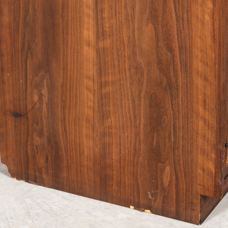 Mid Century Two Part Cane Front Mahogany Cabinet - 5
