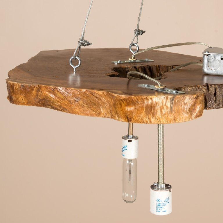 Modern Live Edge Cross Section Chandelier - 2