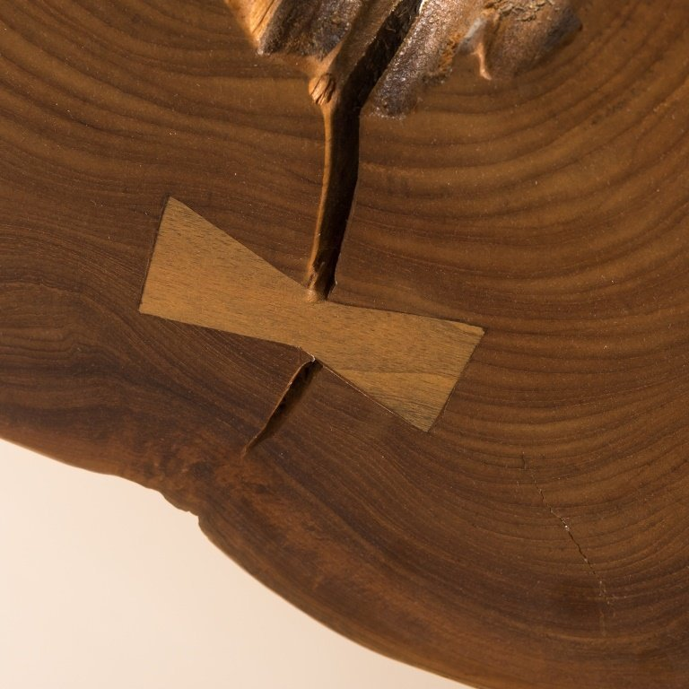 Modern Live Edge Cross Section Chandelier - 3