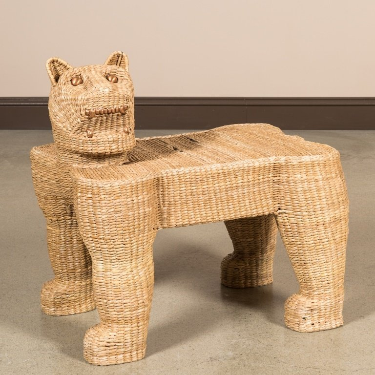 Mario Lopez Torres for Tzumindi Wicker Bench