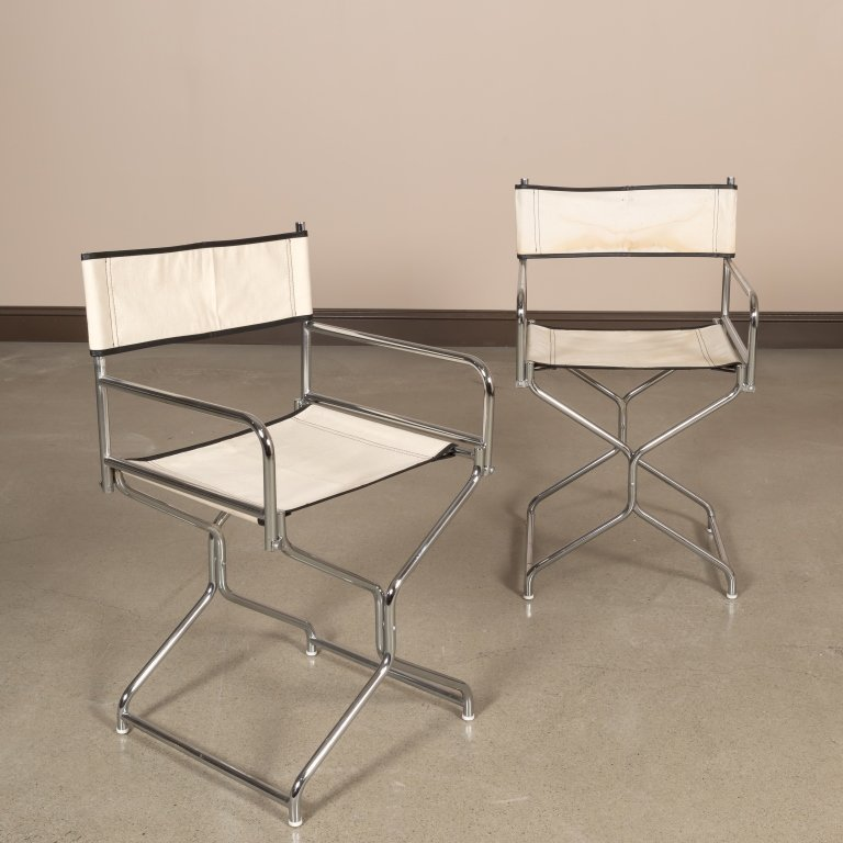 Pair of Chrome Directors Chairs