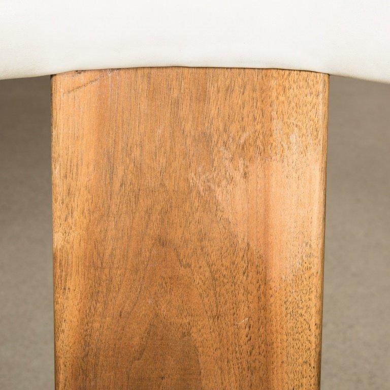 Pair Teak and Vinyl Barrel Chairs - 4