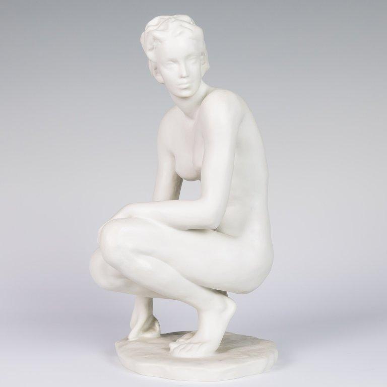 "Rosenthal Nude - Artist Signed ""F. Klimisch"""