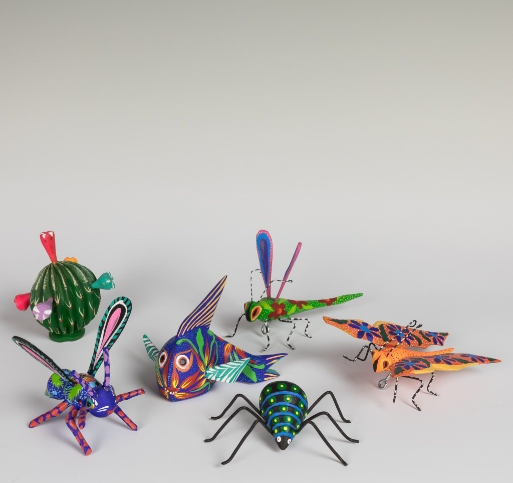 Group of Artist Signed Hand Painted Insects
