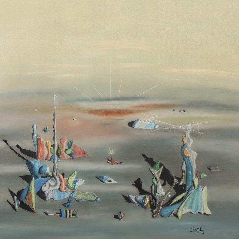 Surrealism Pastel Signed Dorothy - 2
