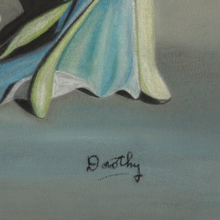 Surrealism Pastel Signed Dorothy - 3