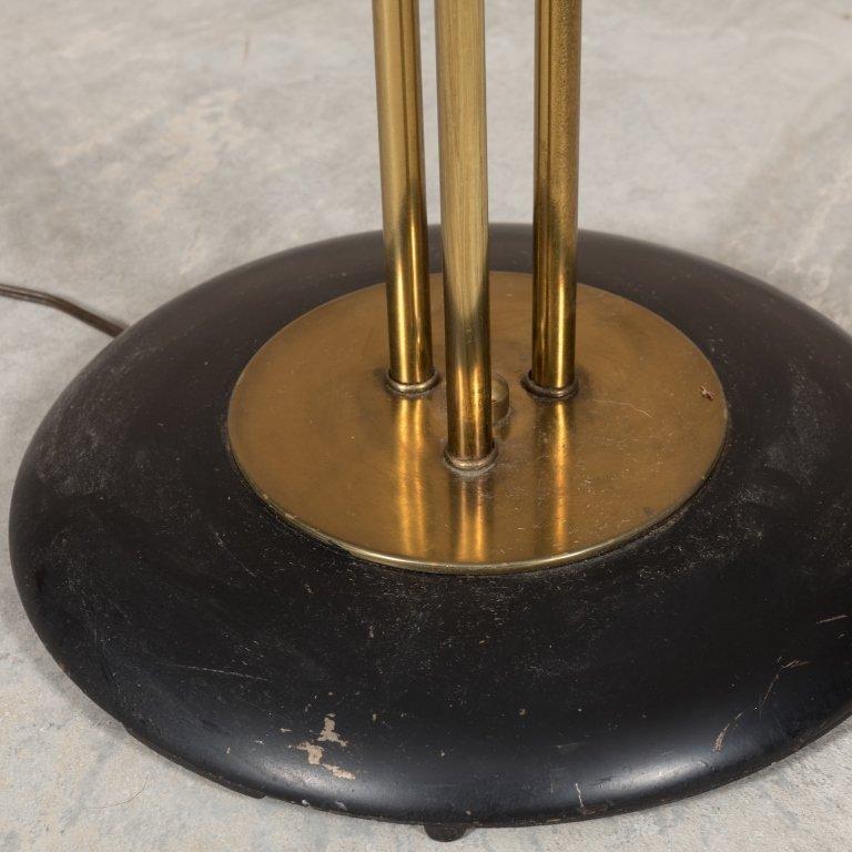 Modern Brass Floor Lamp with Art Glass Shade - 3