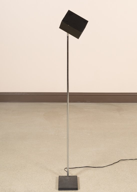 Lightolier Chrome Floor Lamp with Cube Head