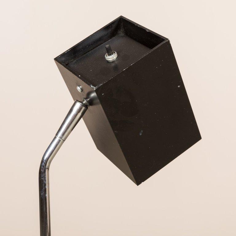Lightolier Chrome Floor Lamp with Cube Head - 2