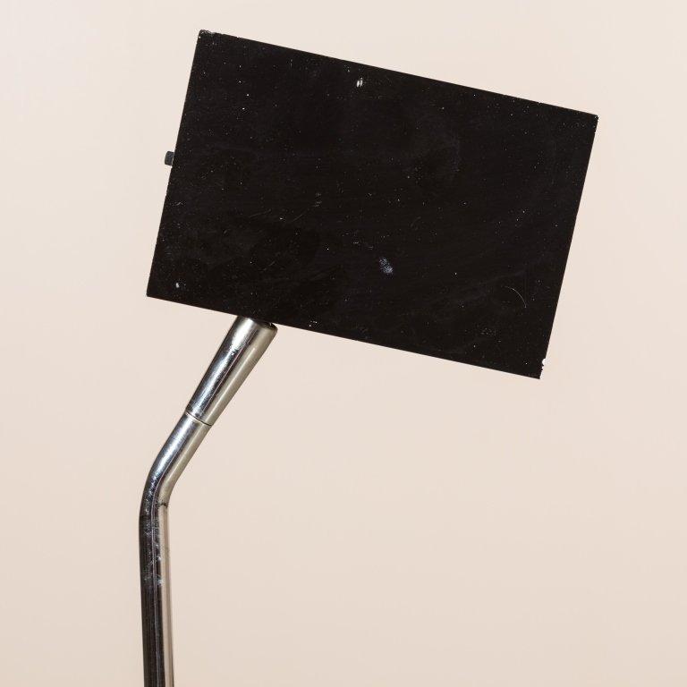 Lightolier Chrome Floor Lamp with Cube Head - 4