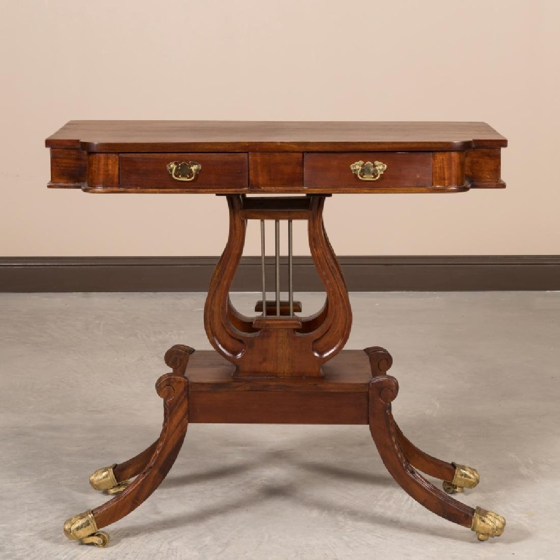 Mahogany Hall Table with Lyre Base