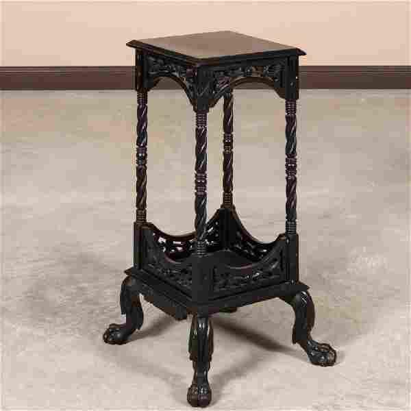 Victorian Ebonized Claw Foot Pedestal