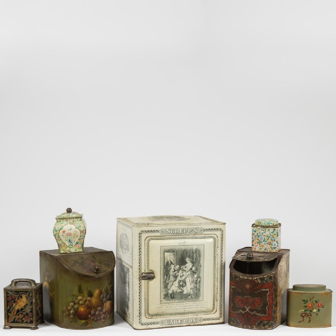 Group of Miscellaneous Cookie Tins - Schepps