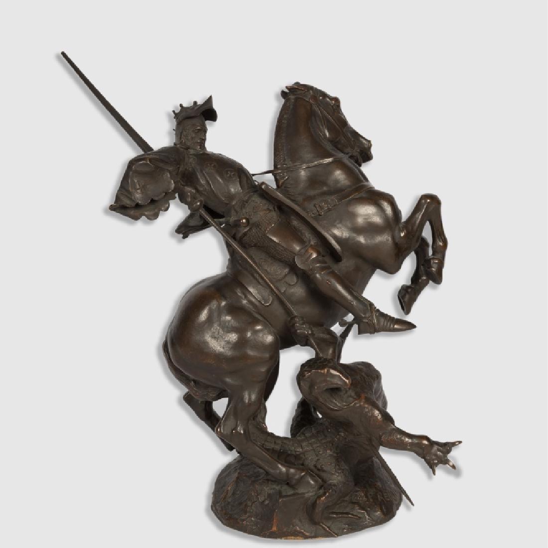 "Emmanuel Fremiet Bronze - ""St. George"""