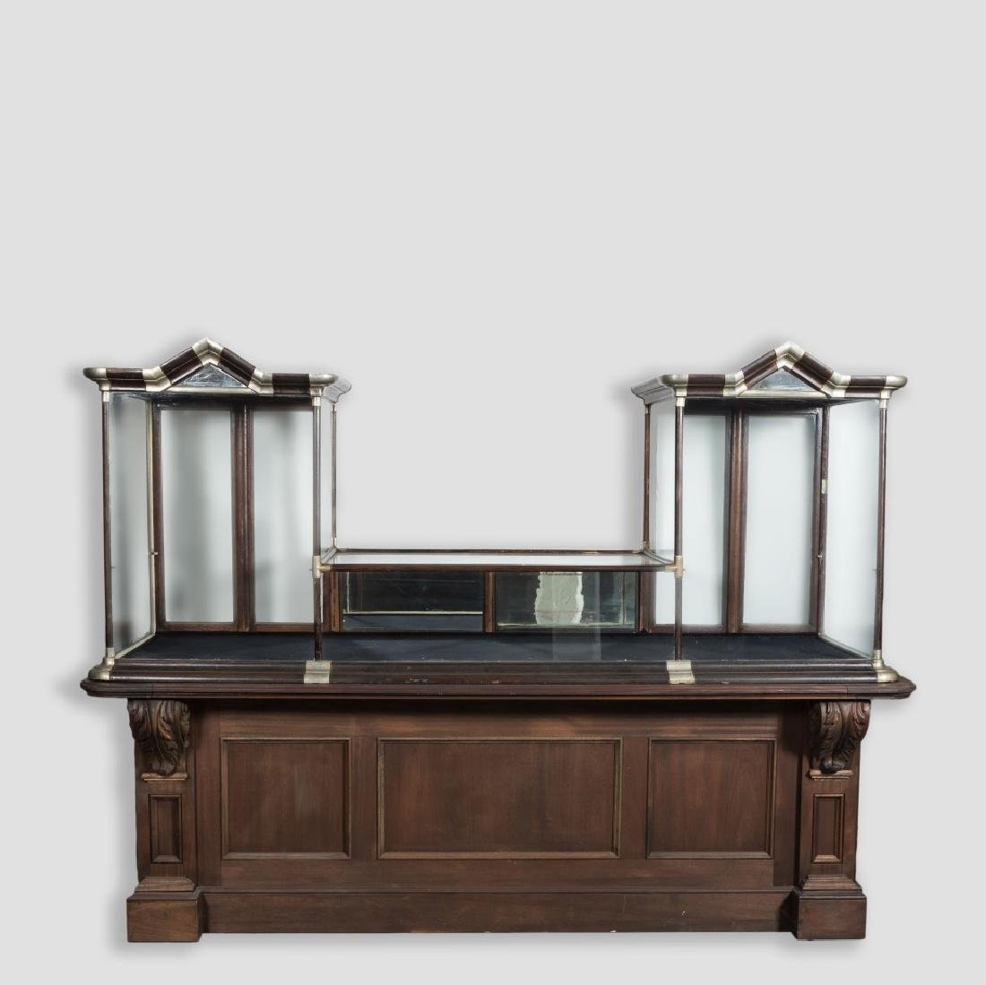 3 Section Victorian Counter Top Display Case