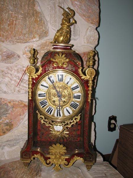 368: Tortisique Shell inlay mantle clock, Churet Harris