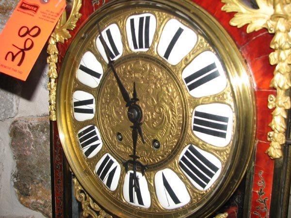 368: Tortisique Shell inlay mantle clock, Churet Harris - 3