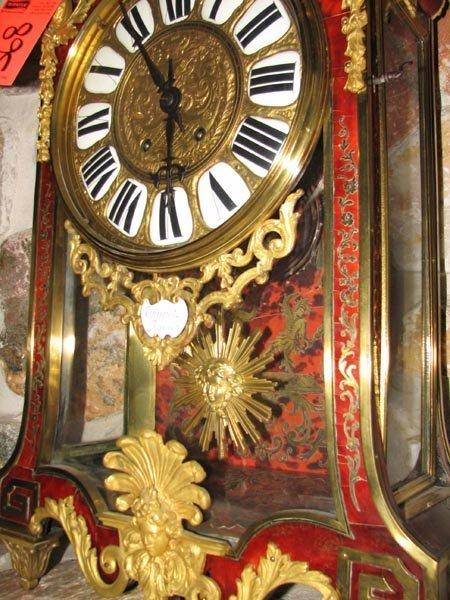 368: Tortisique Shell inlay mantle clock, Churet Harris - 7