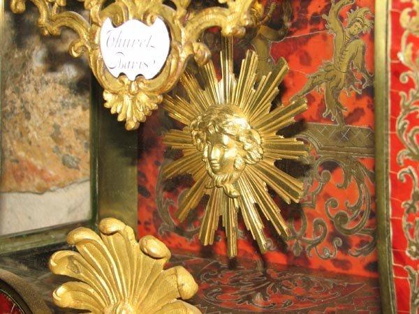 368: Tortisique Shell inlay mantle clock, Churet Harris - 9