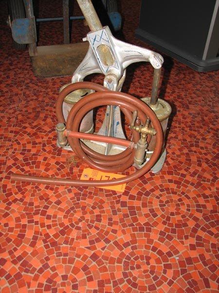 172: Antique Cleveland Faucet Company double bladder ha