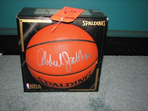 176: Kareem Abdul Jabar autographed Spalding basketball