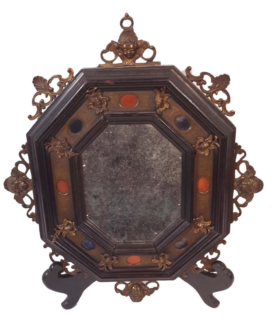 Italian Bronze and Hard Stone Mounted Renaissance