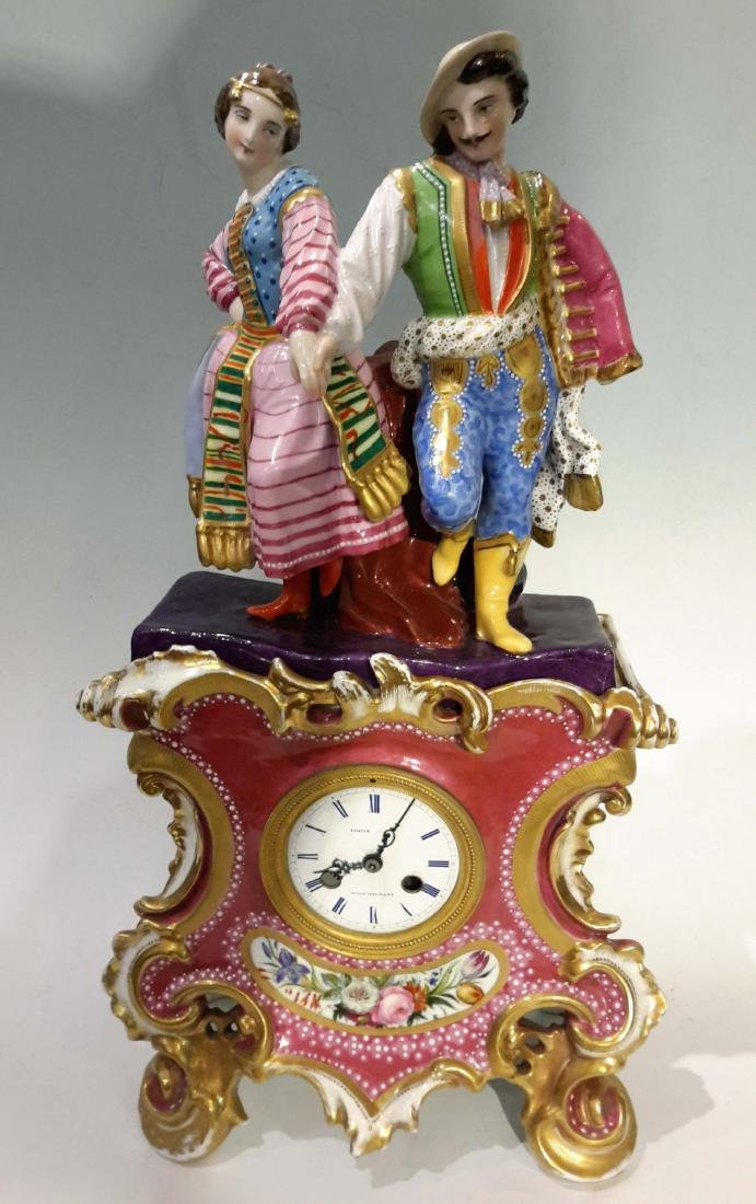 Jacob Petit Old Paris Porcelain Clock 19C.