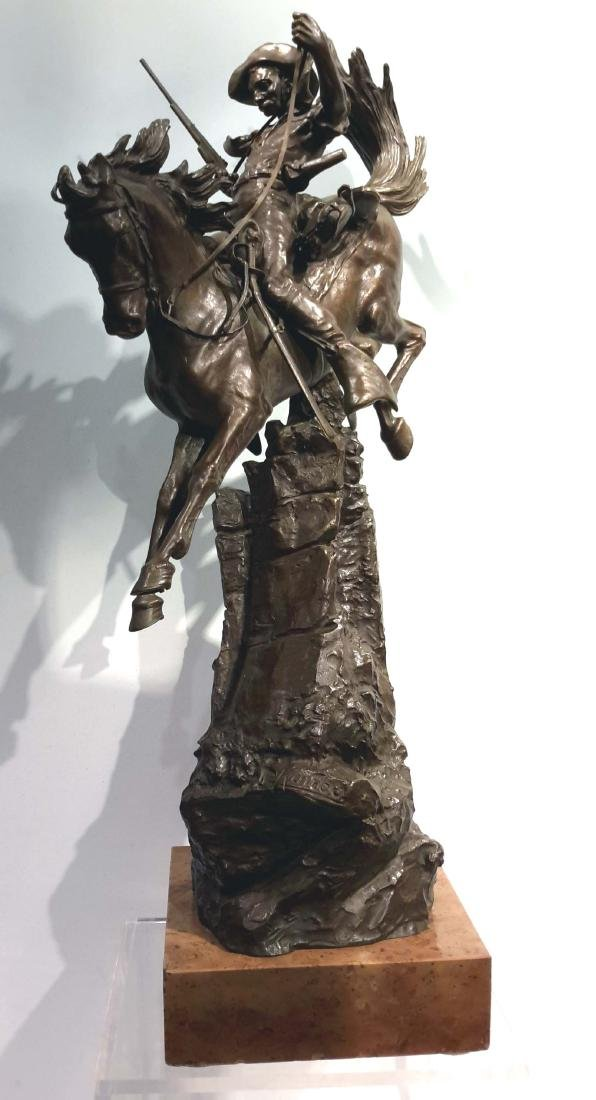 "Carl Kauba,Austrian, 1865-1922 Bronze "" The Scout"""
