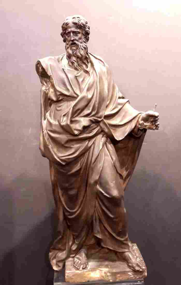 18C. Terra Cotta Figure of St. Paul